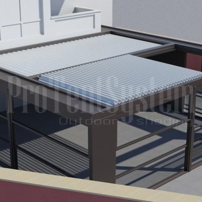 ергола BioClima с алуминиеви ламели, Вертикалнистъклени системи Гилотина